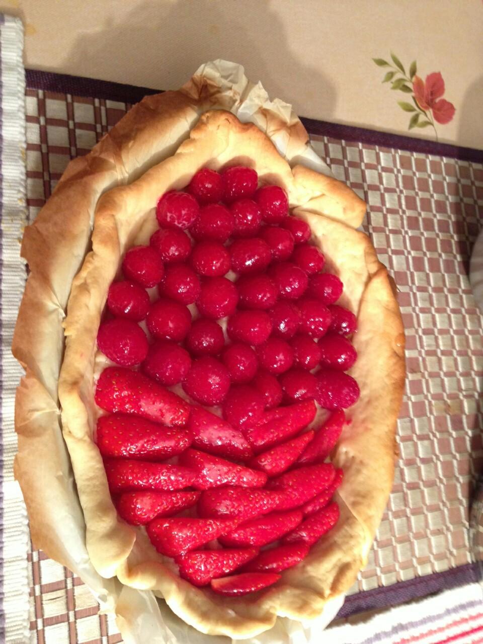 La tarte fraise-cerise de Bruno Mars
