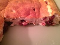 Gâteau au fromage blanc et cranberries (type st amour)