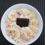 smoothie bowl chocolat bananes amandes