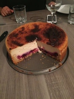 cheesecake vegan fruits rouges