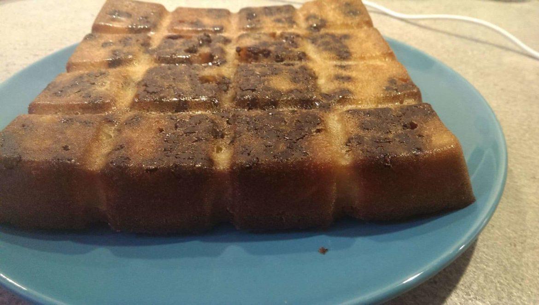 Gâteau chocolat, poire & amandes
