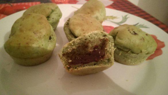 Muffins matcha au coeur d'anko