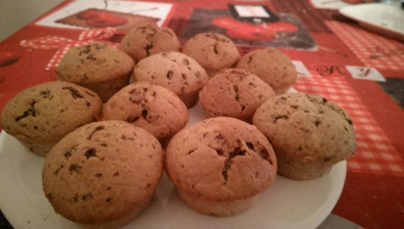 Muffins bananes chocolats moelleux
