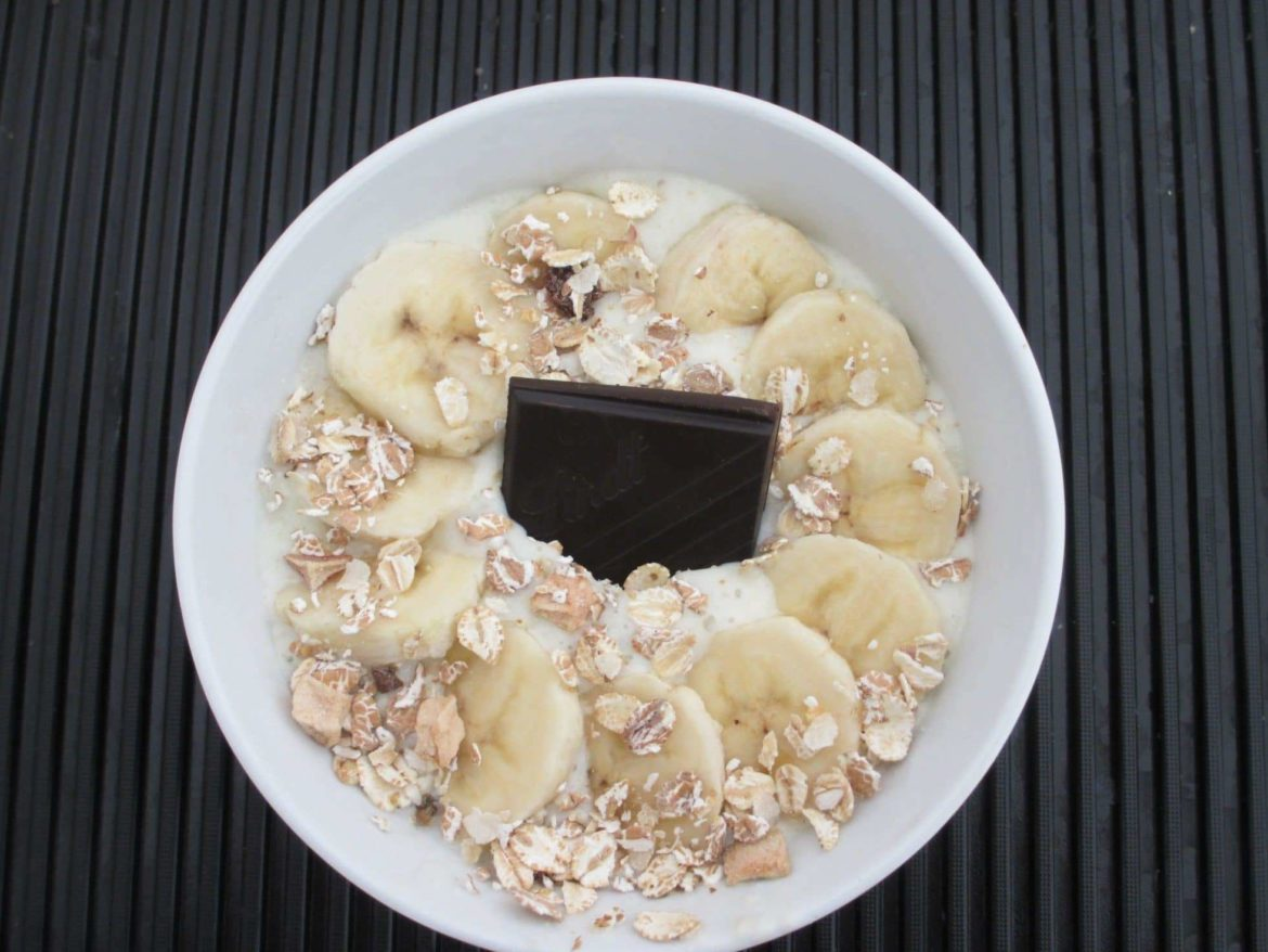 smoothie bowl chocolat bananes amandes