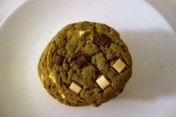 cookies thé vert matcha aux 3 chocolats