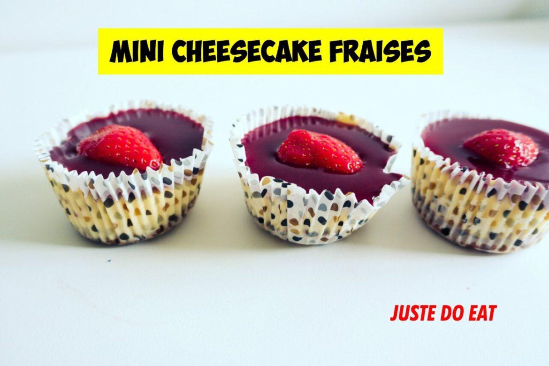 mini cheesecakes fraises