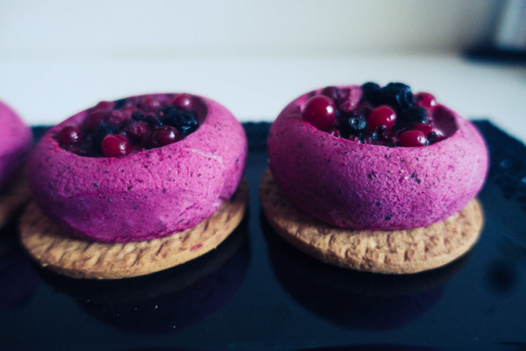 mini entremets fruits rouges