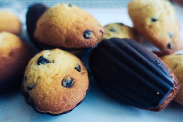 madeleines pépites de chocolat