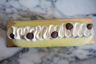 Entremets banane chocolat façon banana split